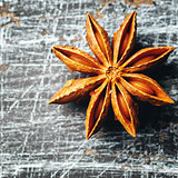 Star Anise on vintage texture table