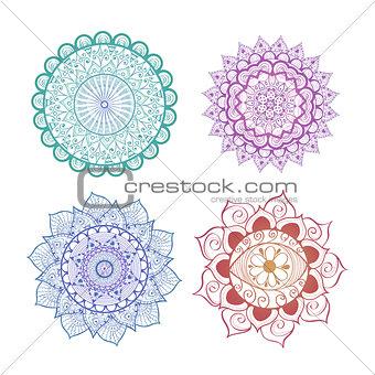 Abstract Mandala Set