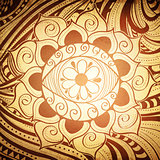 Fird Eye Abstract Henna Color Mandala Background