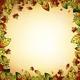 Autumn Leaf Vintage Border