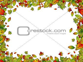 Autumn Bright Leaf Border