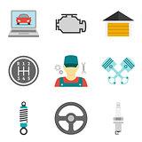 Auto Service Icons Flat vol 2