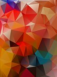 Abstract 2D geometrical colorful background