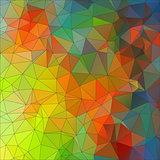 Mosaic triangle ornamental geometric background