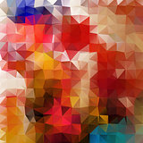 Abstract 2D mosaic triangle geometric background