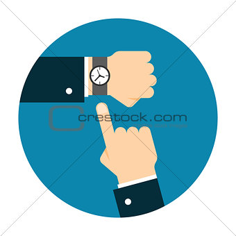 Wristwatch on the hand