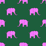 Pink Elephant Seamless Pattern