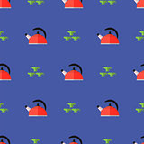 Kitchen Kettle Seamless Pattern