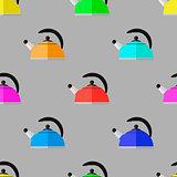 Kitchen Colorful Kettle Seamless Pattern