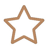 Rope Creative Ornamental Star Frame