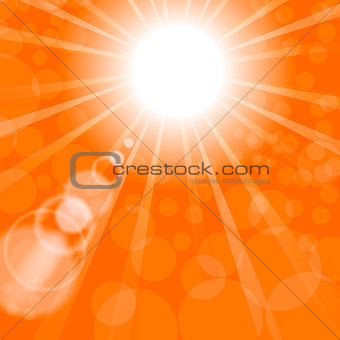 Abstract Sun Background. Orange Summer Pattern.