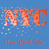 New York T-shirt Emblem.Print Typography.