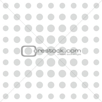 Grey comic vector pattern dots on white background