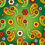 Vivid green seamless pattern