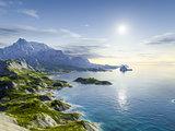fantasy coast landscape