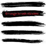 Black ink vector brush strokes. Vector illustration. Grunge texture.