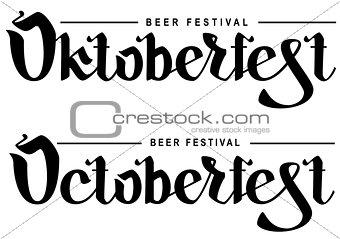 Oktoberfest beer festival. Lettering text