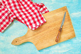 Rustic kitchen  household objects, top view