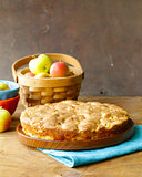 homemade baking, domestic cooking apple pie