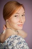 Portrait of a redhead woman