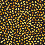Vector Seamless Golden Gradient Triangle Shape Jumble Pattern