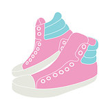 Illustration of pink sneakers on white background