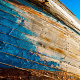 Colours of wooden boat