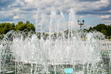 Musical Fountain in Tsaritsyno park in Moscow, Russia