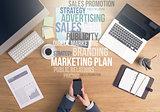 Marketing strategies concept