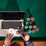 Online poker player