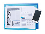 Smart phone and financial reports