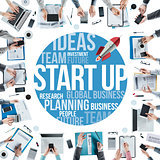 Start up team at work