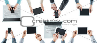 Business people social networking