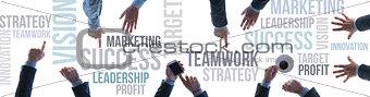 Business teamwork and success banner