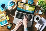 Real estate website mock up