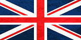 True proportions United Kingdom flag with texture