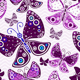 Seamless vivid pink-violet pattern