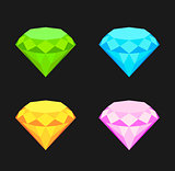 Collection of diamonds.
