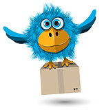 Blue Bird with a box