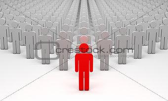 Avatar (symbolic figures of people).3d illustration render