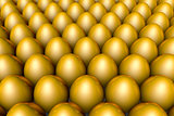 The huge profits. Golden eggs. 3D illustration render