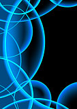 Neon Abstract Circles Background