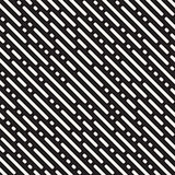 Vector Seamless Irregular Rounded Dash Diagonal Lines Pattern