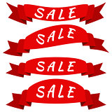 Vector banner Sale ribbons.