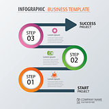 Road business timeline infographic template. Vector illustration