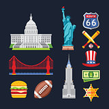 Traditional Symbols of Architecture and Culture, USA