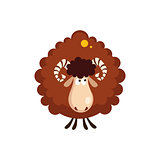 Brown Sheep Vector Illustration
