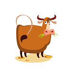 Vector Cow Flat Illustration