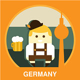 Traditional Germany Resident Vector Illustration