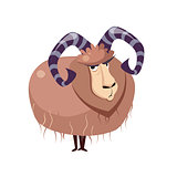 Wool Goat with big Horns